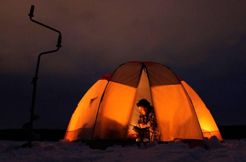 Как и чем обогреть зимнюю палатку на рыбалке. фото