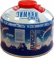 Газовый баллон пропан-бутан-изобутан 230г(Н-230) резьбовой в интернет магазине Причал, фото