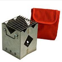 Печь складная походная в сумке (нерж.) 6-01-0019