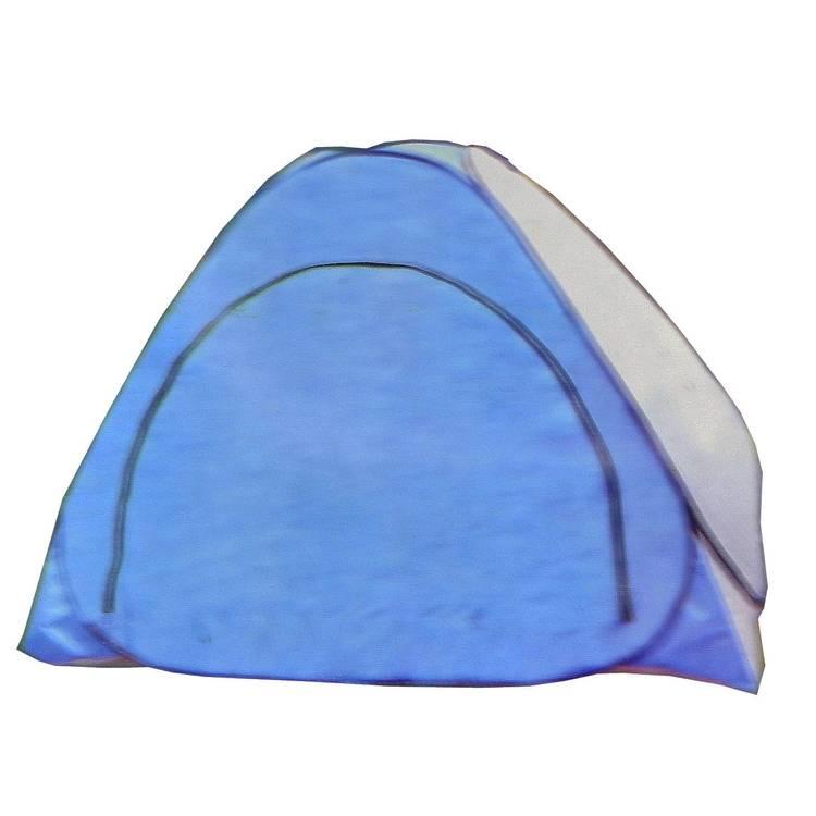 палатка зимняя автомат без дна (1,5x1,5м) сине-белая WDT-089 в интернет магазине Причал, фото