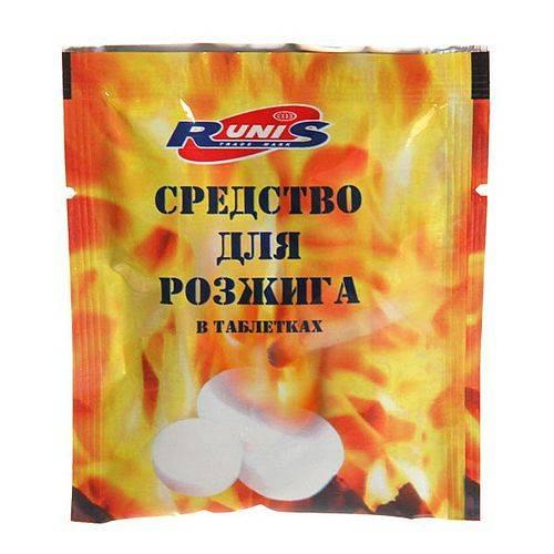 средство для розжига таблетка 15г RUNIS 1-047 в интернет магазине Причал, фото