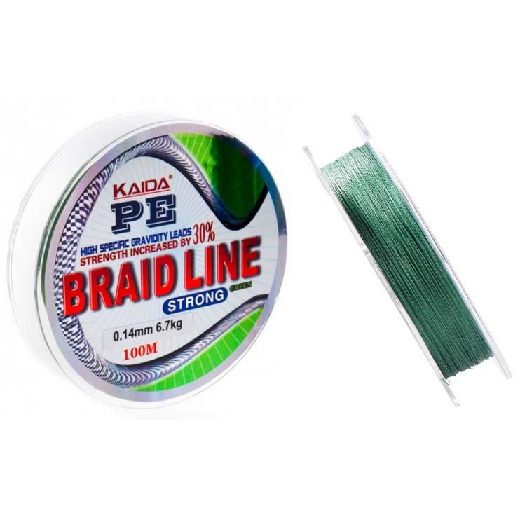плетенка Kaida 112 Braid Line зеленая 100м 0.12mm в интернет магазине Причал, фото