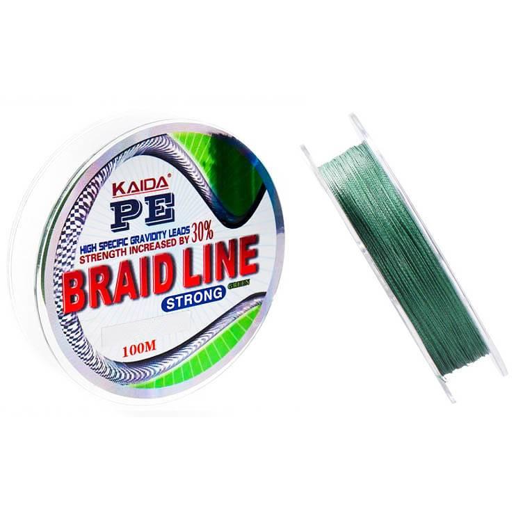 плетенка Kaida 112 Braid Line зеленая 100м 0.30mm в интернет магазине Причал, фото