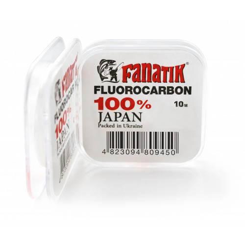 леска FANATIK флюорокарбон поводочный 10m #3.0 d 0.293mm в интернет магазине Причал, фото