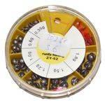 грузила свинцовые набор WF D-77  0,35/0,6/1/1,2/1,5 гр в интернет магазине Причал, фото