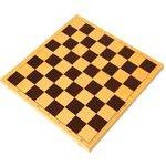 шашки пластик с шахматной доской из пластика 30х30см