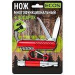 нож ECOS многофункциональный + фонарь в интернет магазине Причал, фото