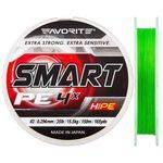 плетенка FAVORITE SMART PE 4X 150m #0.4 d 0.104mm 3.0kg салатовый в интернет магазине Причал, фото